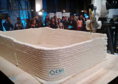 3D printing with spray foam insulation