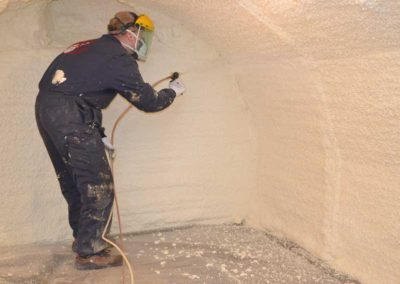 Basement insulation spray foam
