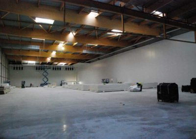 Polyurethane sprayfoam used in cold storage rooms