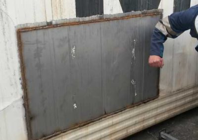 Foam insulation for reefer repair