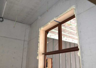 Window sealing spray foam